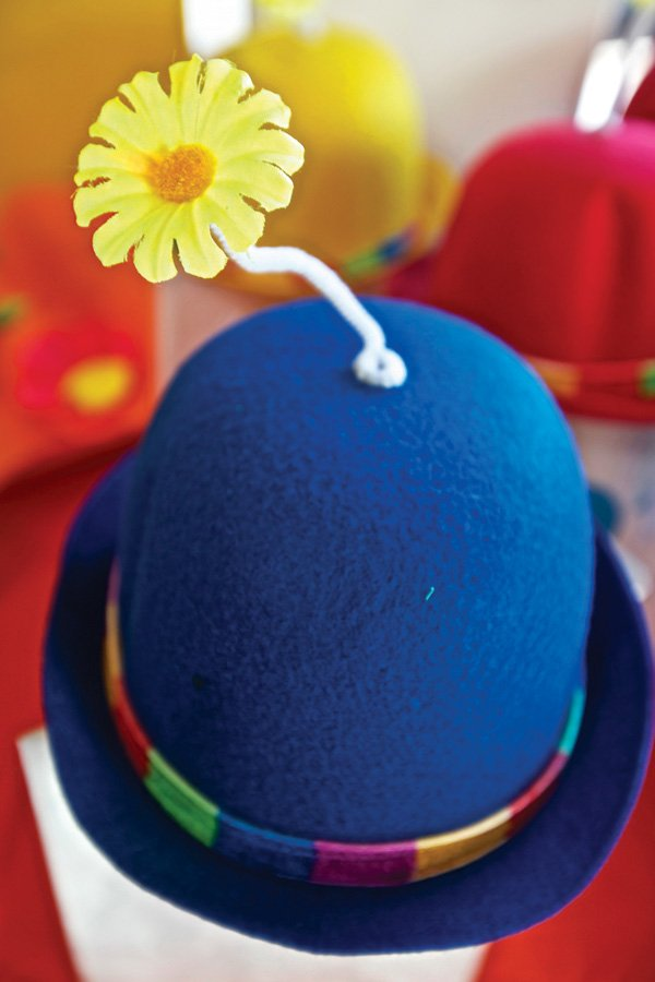sprouting flower bowler hat