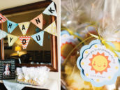 sunshine themed party favors