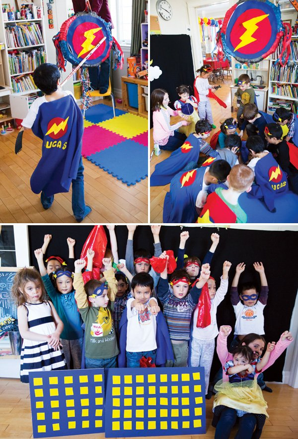 super hero piñata party party activity