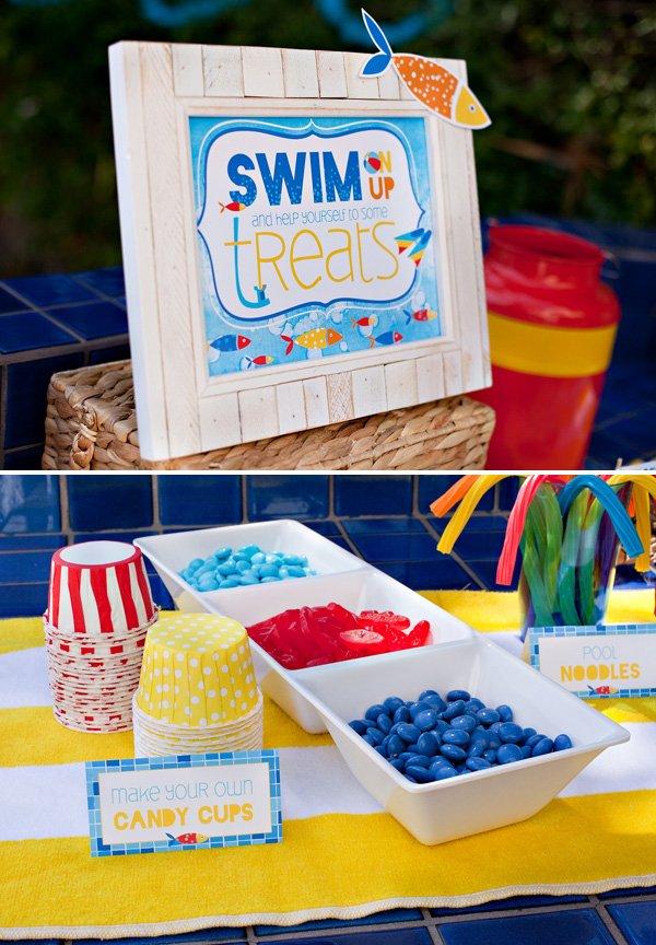 swim party dessert ideas