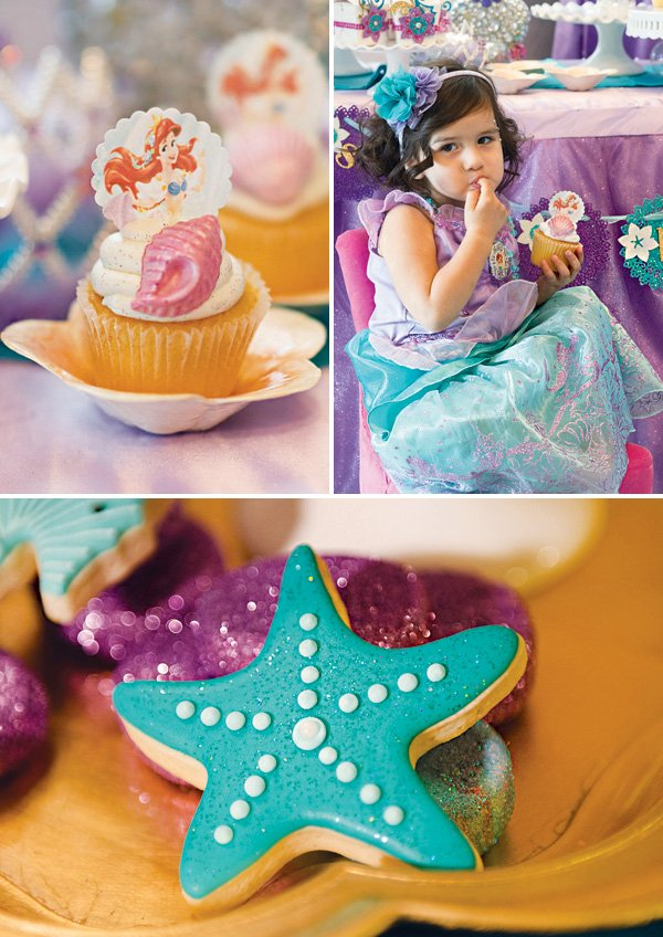the little mermaid ariel themed desserts