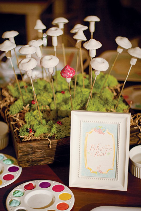 toadstool painting party activity
