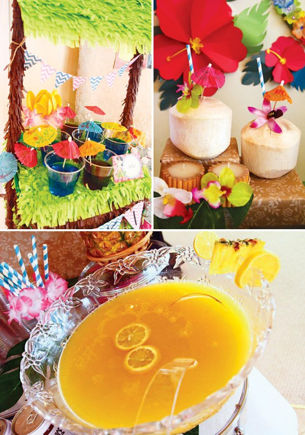 tropical party drinks