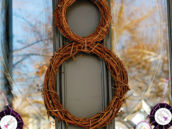 twig bunny rabbit door wreath
