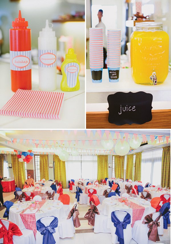vintage soda fountain birthday party decor