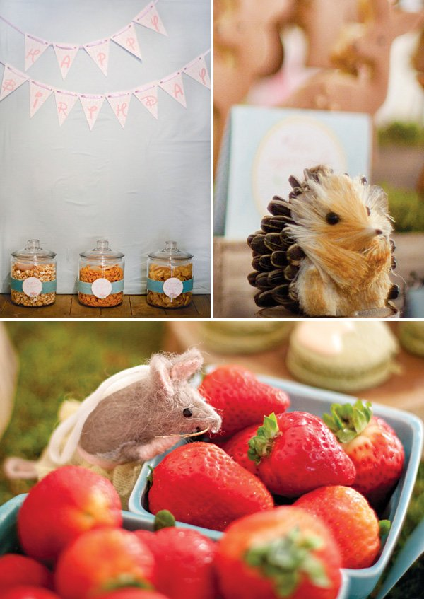 woodland creature party decor
