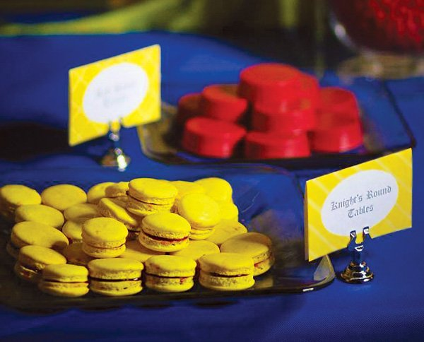 red and yellow party desserts