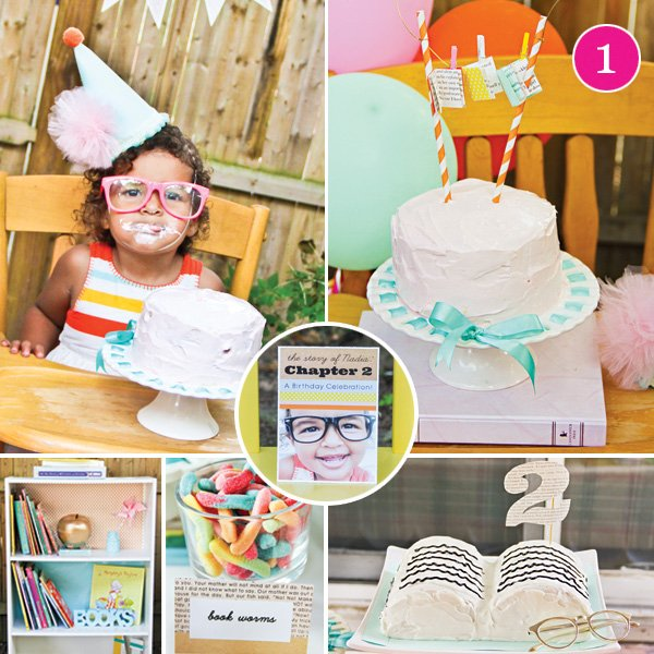Chapter 2 Book Themed 2nd Birthday Party
