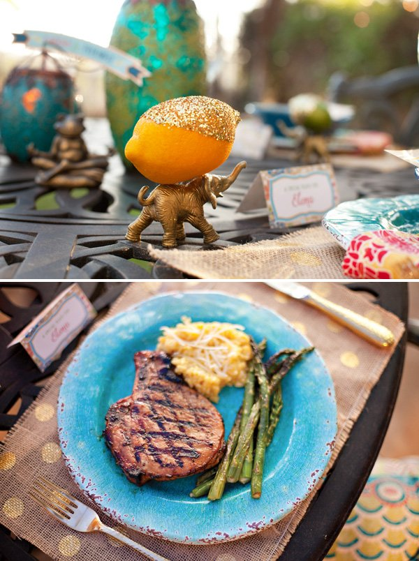 grilled pork chops and roasted asparagus make the perfect summer dinner party main course