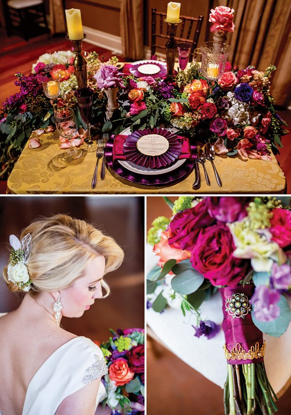 Colorful Vintage Glam Wedding Inspiration Hostess With
