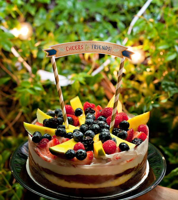 fresh fruit boston cream pie for a summer dinner party dessert