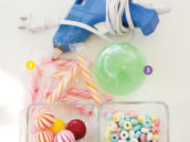DIY candy baby rattles tutorial materials