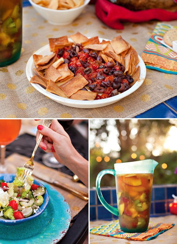 summer dinner party appetizer, food and drink ideas
