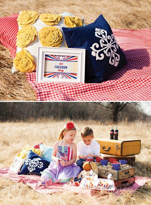 4th of july americana picnic