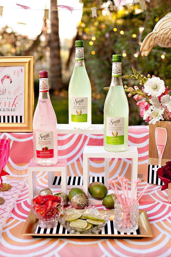 sauza sparkling margaritas cocktail table