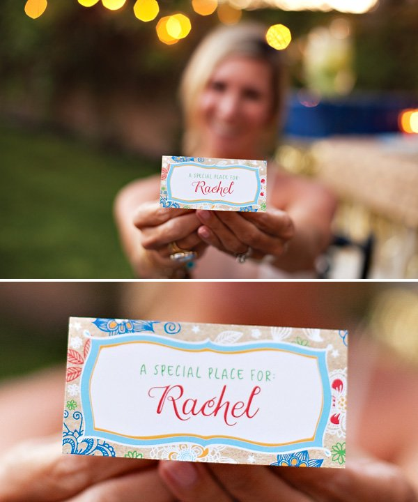 bohemian style place cards