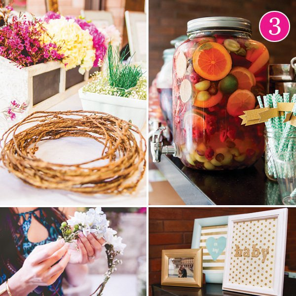 boho chic baby shower