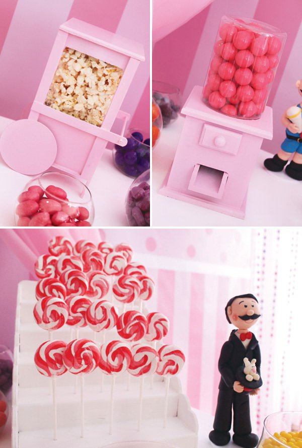 DIY wooden gumball and popcorn machines