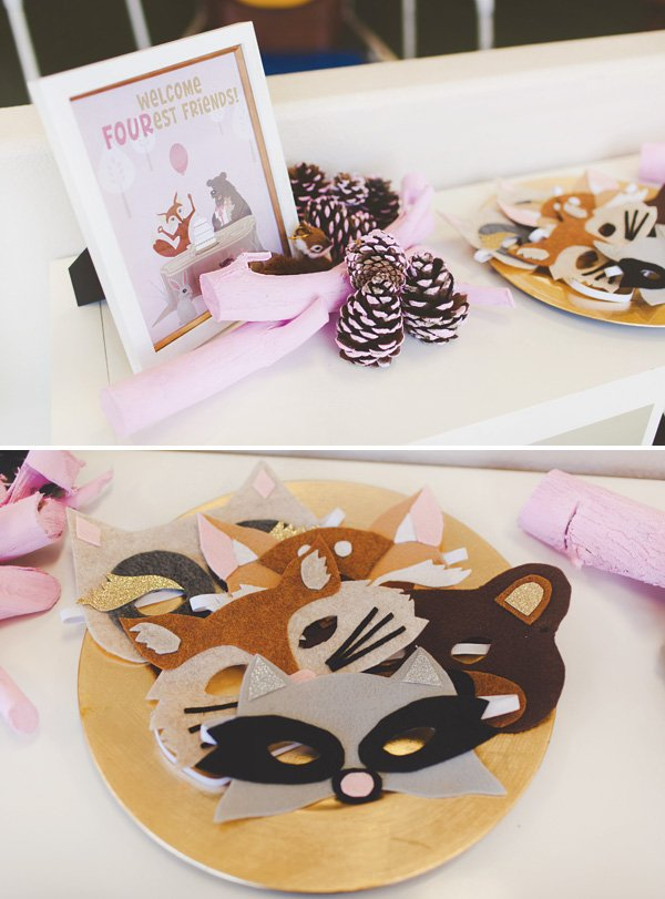 DIY woodland animal felt party masks