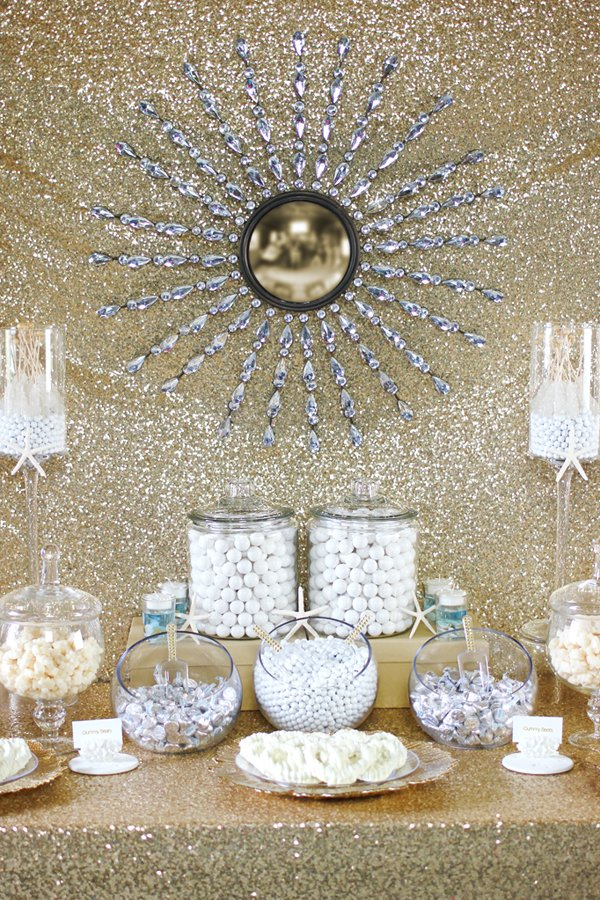 Gold-white-candy-buffet