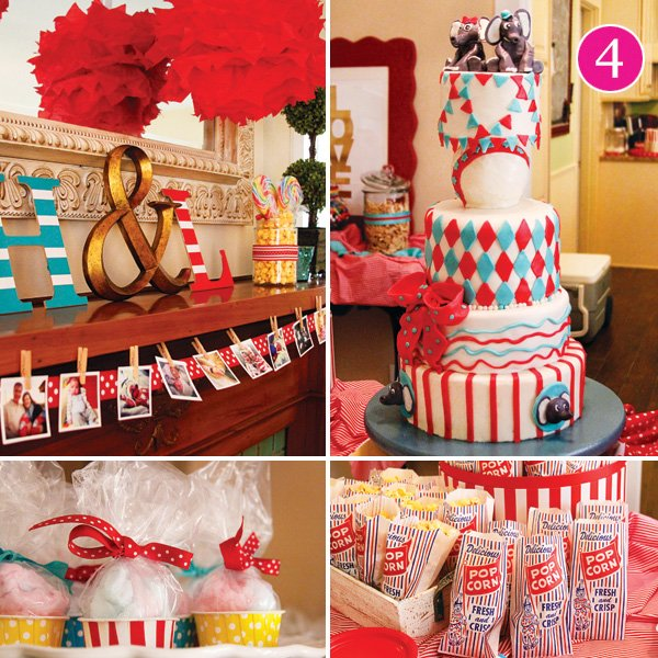 twins first birthday circus party