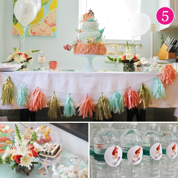 vintage mermaid birthday party