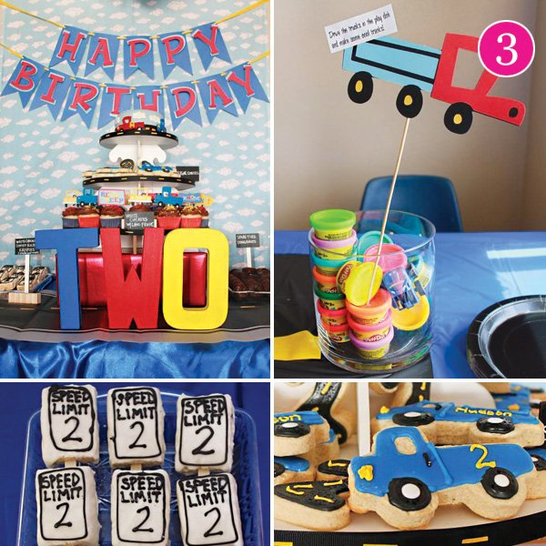 Truck Or Car Themed Birthday Party
