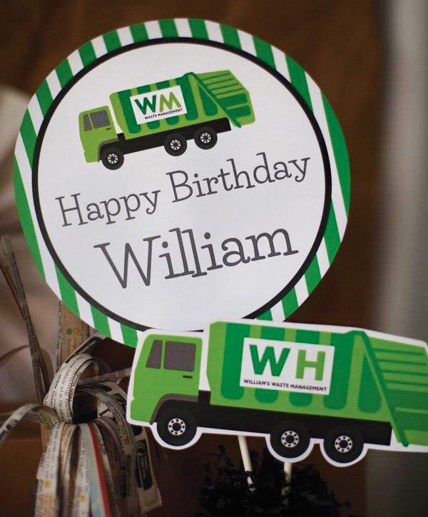WM trash birthday party printables