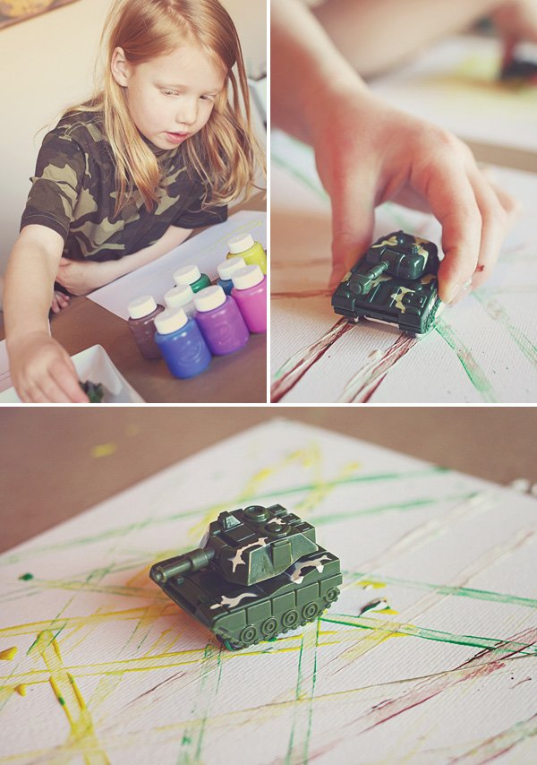 army toy tank wheels art