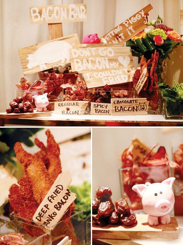 bacon bar party food