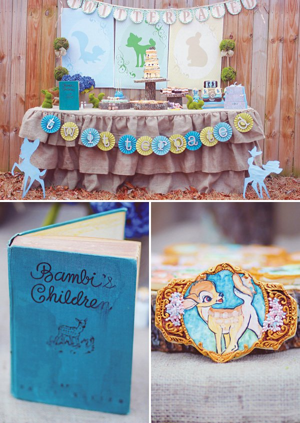 twitterpated bambi party dessert table