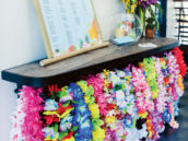 birthday party entrance hawaiian leis