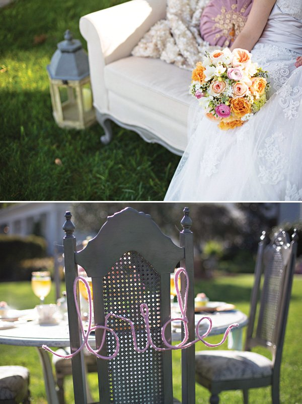 bride chair back sign