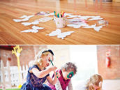 butterfly coloring birthday party activity