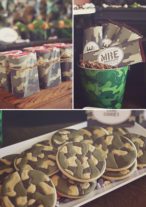 camo party desserts and snacks