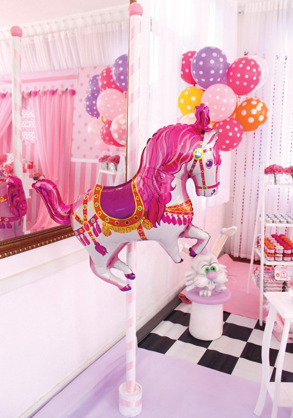 DIY carousel horse balloon pole