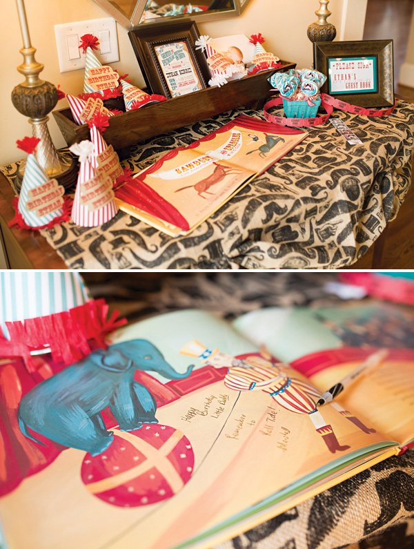 circus story book guest book