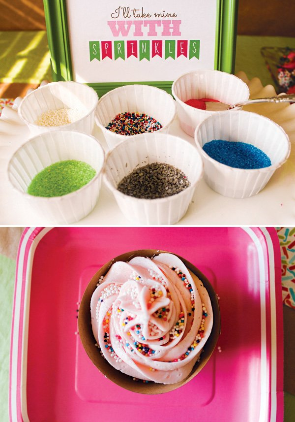 sprinkled with love cupcake decorating shower activity
