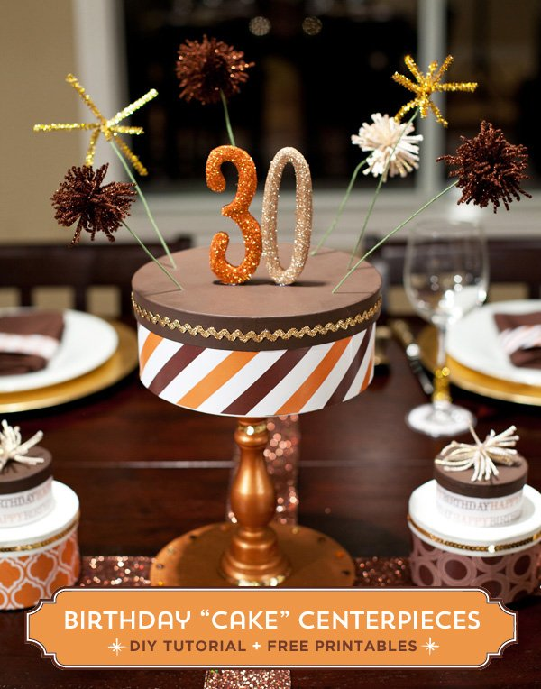 diy birthday cake centerpiece tutorial