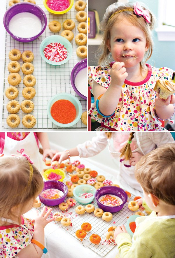doughnut decorating party activity