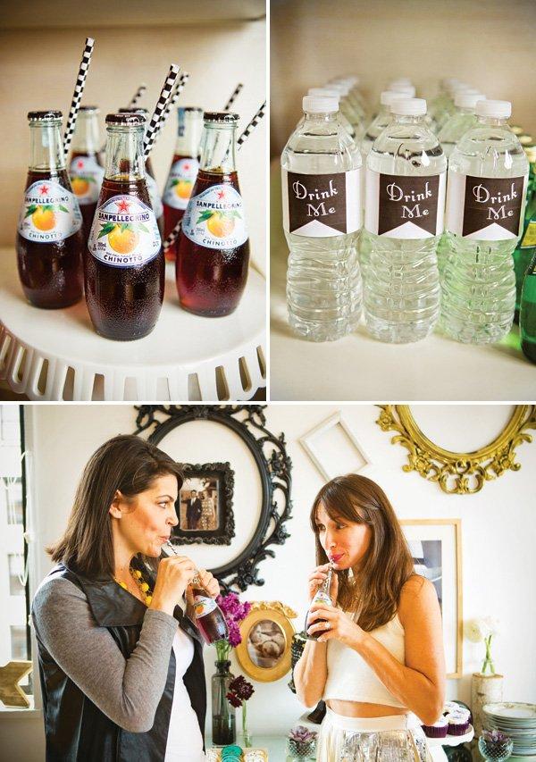 drink me wonderland inspired bottle wraps