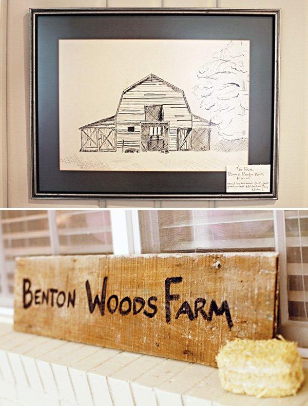 family farm birthday sign
