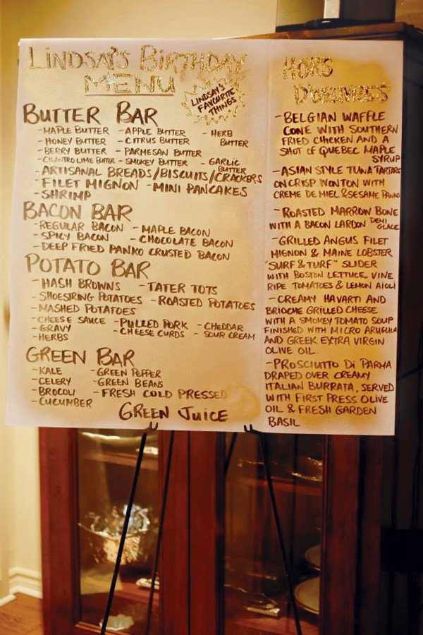 DIY favorite foods party menu