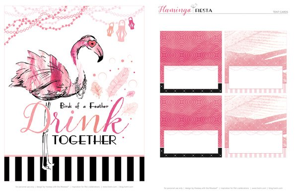 flamingo party printables from hwtm