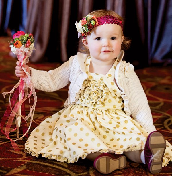 flower girl sequined floral headband