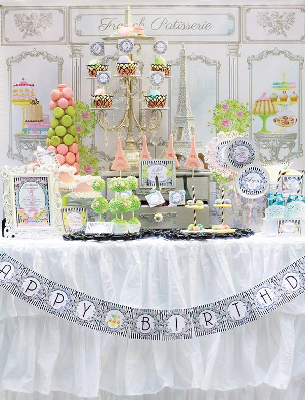 french patisserie dessert table