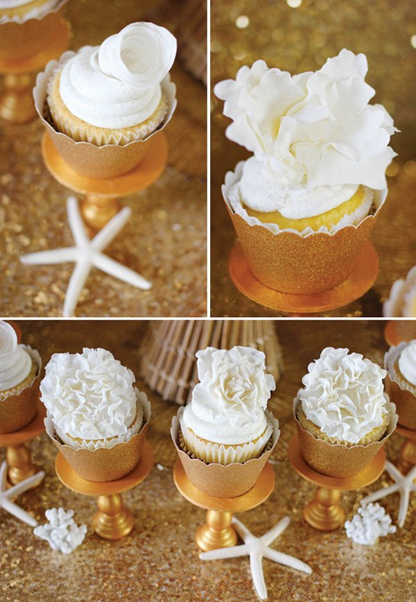 gold-cupcakes