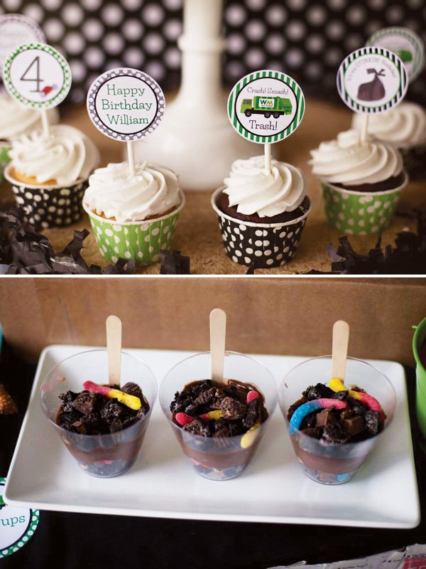 gummy worm chocolate dirt mud cups