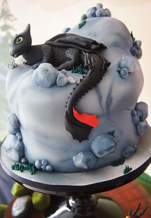 how to train your dragon toothless birthday cake