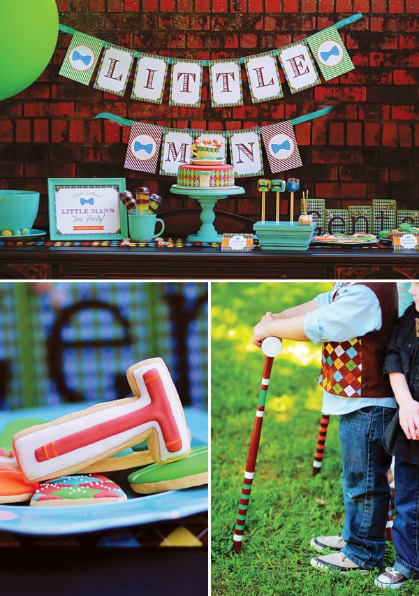 little men croquet outdoor party